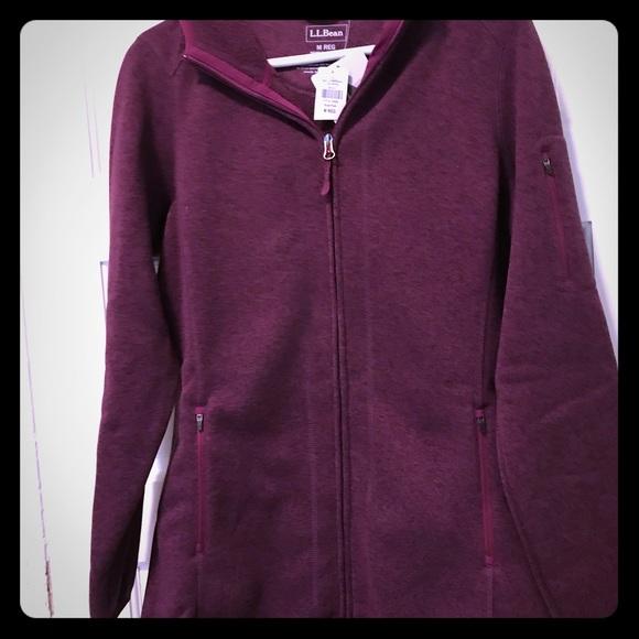 Ll Bean Jackets Coats Llbean Sweater Fleece Coat Poshmark